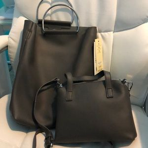 Handbag (Bag in a Bag) Gray Vegan Leather